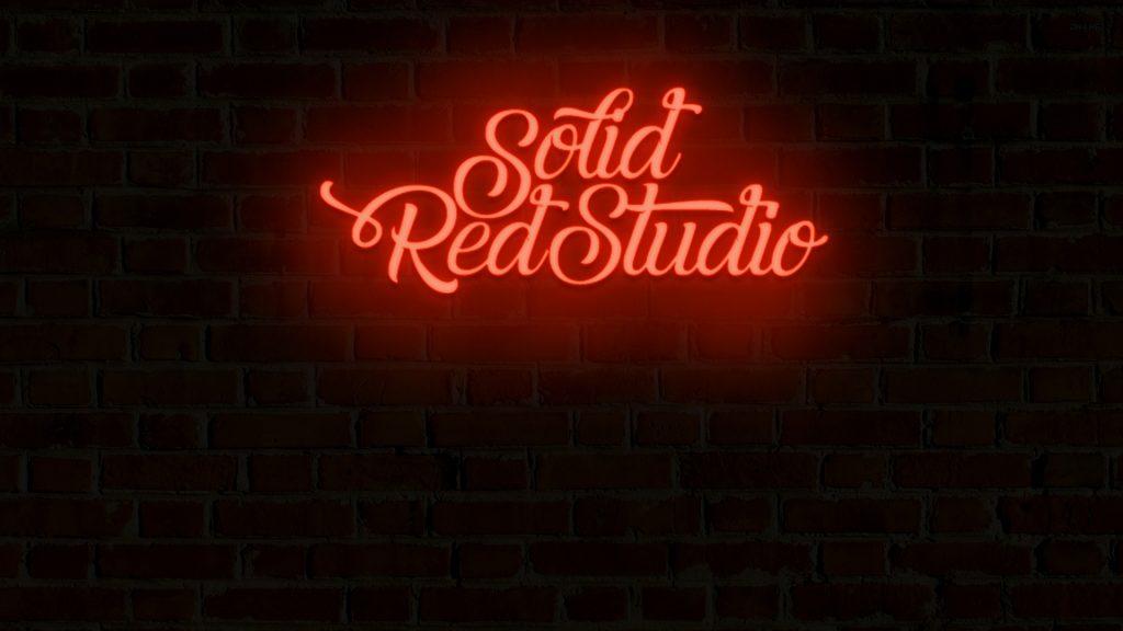 Solid Red Studio Wallpaper